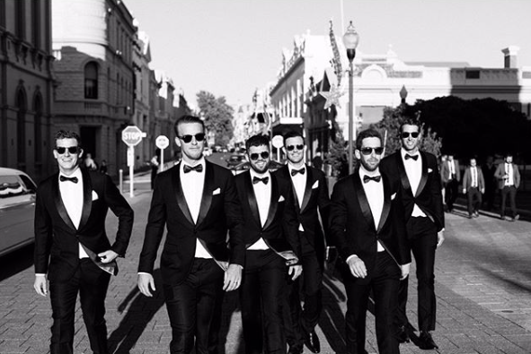 Suit Vault Black Tie Groomsmen Tuxedo Hire Perth