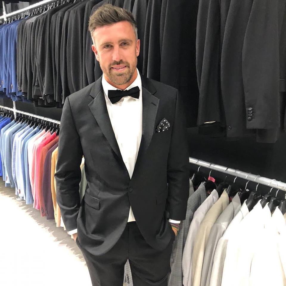 Man wearing tuxedo hired from Suit Vault for Black Tie Event