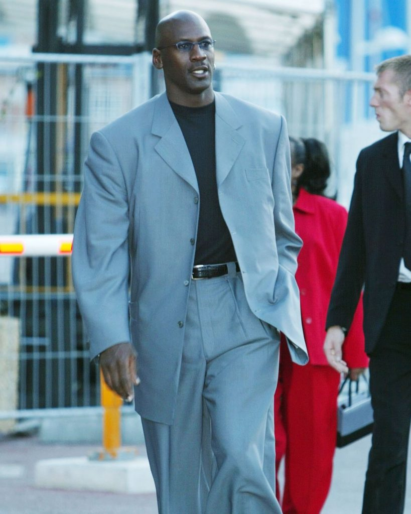 Michael Jordan Poor Fitting Suit Not Tailored