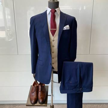 Suit Vault Made-to-Measure 3-Piece Navy