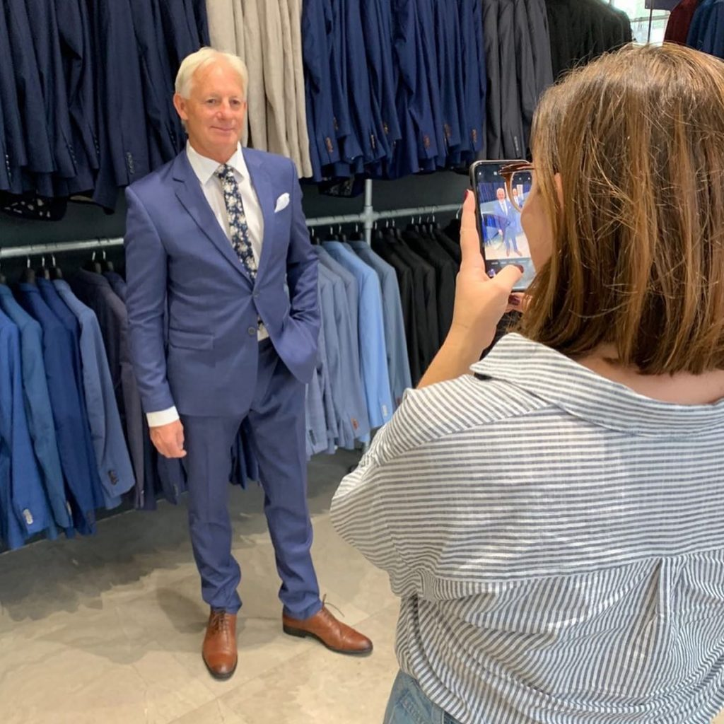 Man Wears Stylish Navy Blue Suit Perth