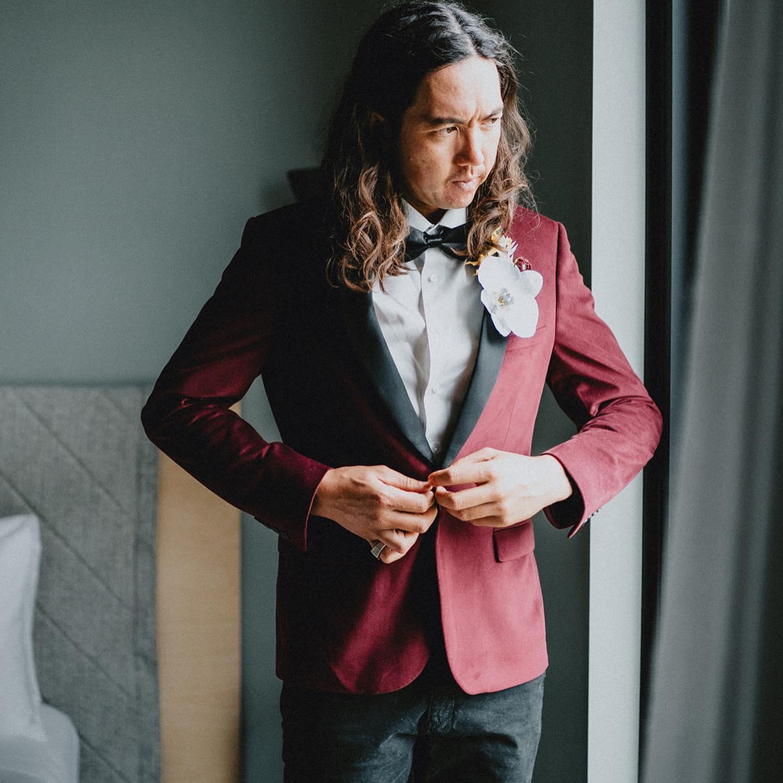 Suit-Vault-Black-Tie-Velvet Jacket Hire-Perth